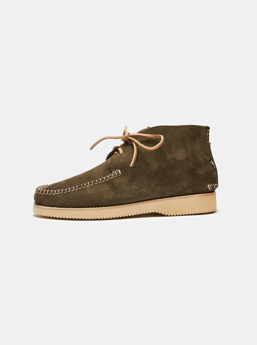 Lucas Suede Moccasin Boot Olive