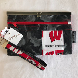 Ladies wallet wristlet or purse featuring Wisconsin