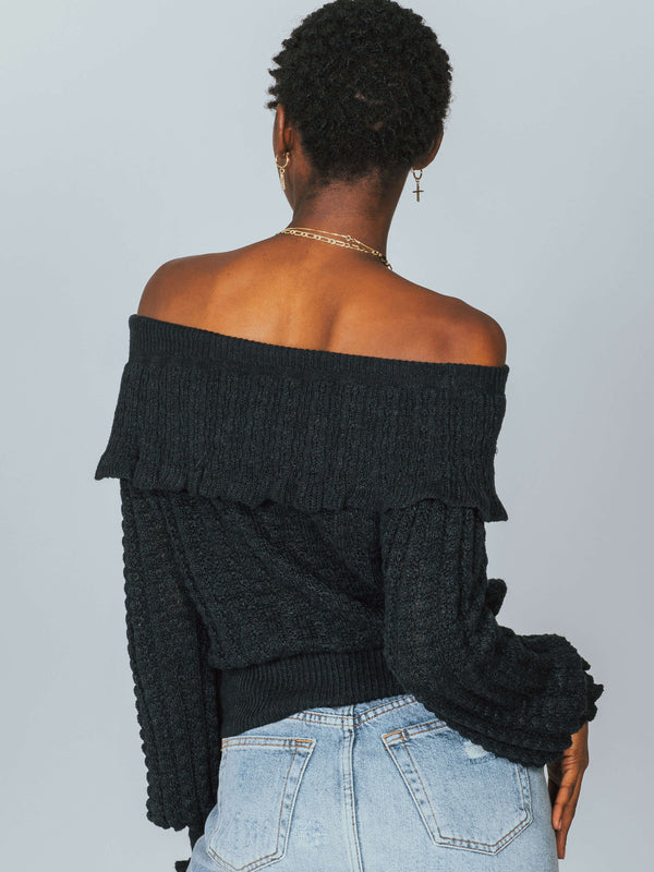 Crazy In Love Ruffle Sweater Free People