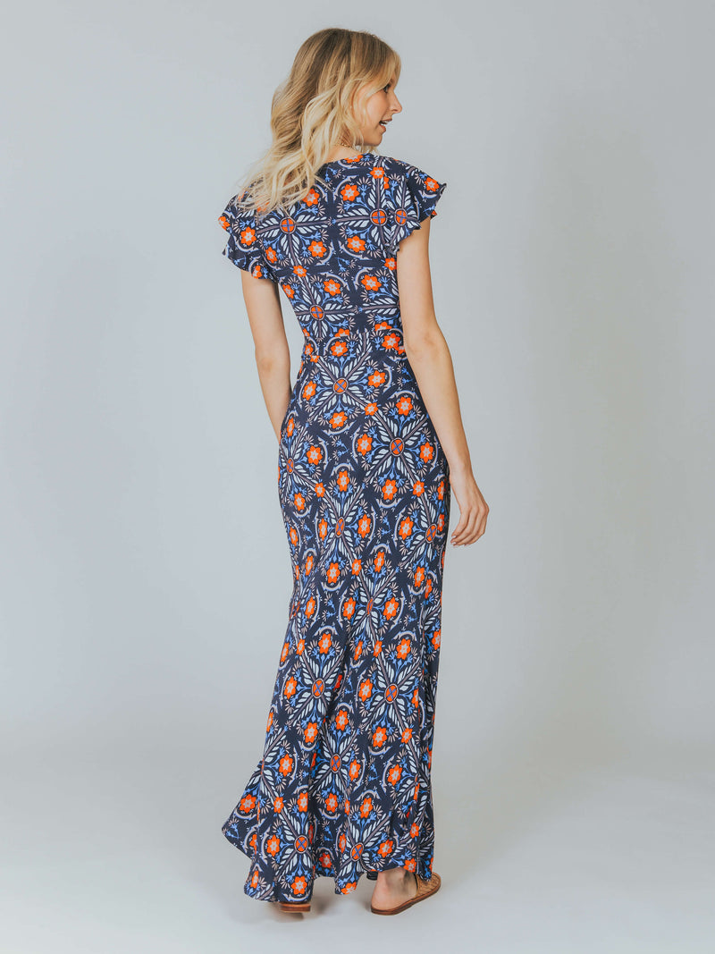 Marigold Dress Navy Cleobella