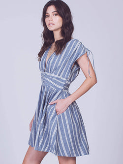 Roll the Dice Striped Mini Dress