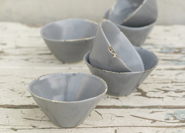 Aged Nibbles Bowl - Soft Grey - Dassie - Nomad The Store