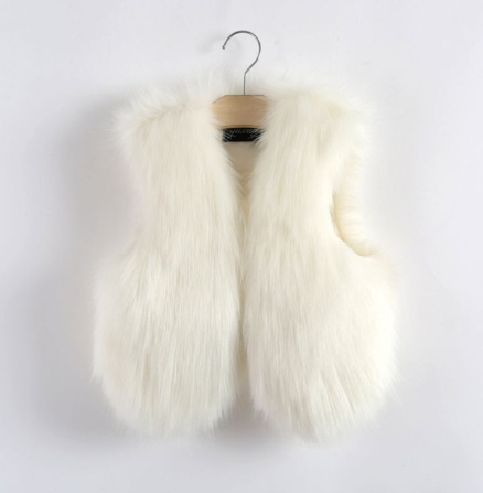 White Faux Fur Vest Thick & Warm