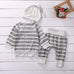 Gray Striped 3 PC Set - MunchkinGear.com