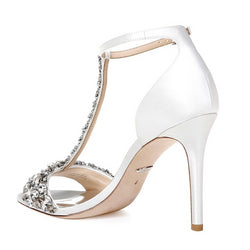 Veil T-Strap Evening Sandal White