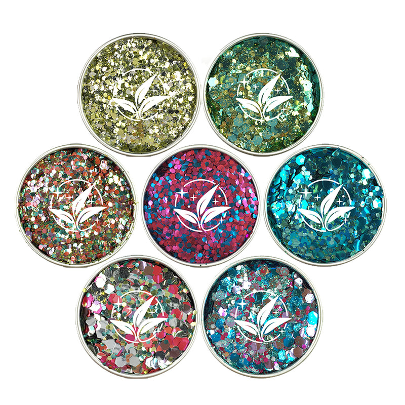 EcoStardust Party Season Blends Biodegradable Glitter Set - x7 Tins! - EcoStardust