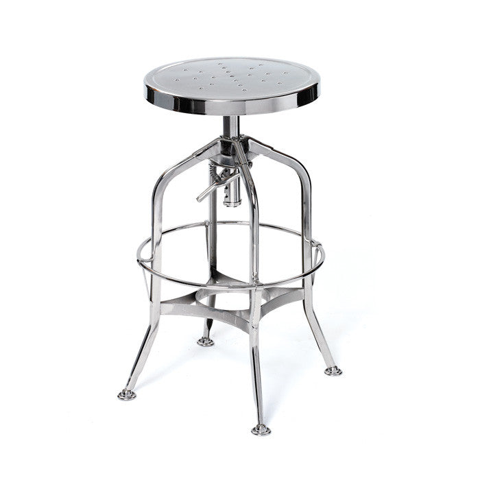 Walker Steel Stool - Modern Industrial & Eclectic Vintage Furniture & Decor by Urbanily - Stool