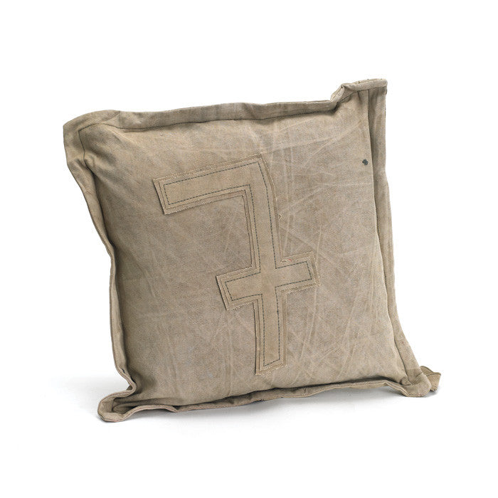 Vintage Tent Canvas Pillow #7 - Set of Two - Modern Industrial & Eclectic Vintage Furniture & Decor by Urbanily - pillow