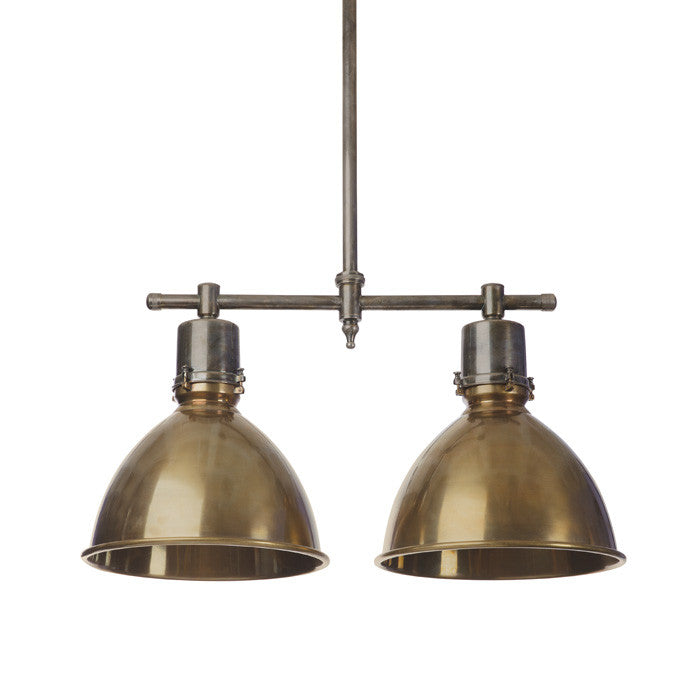 Double Brass Ceiling Light - Urbanily Lifestyle Goods