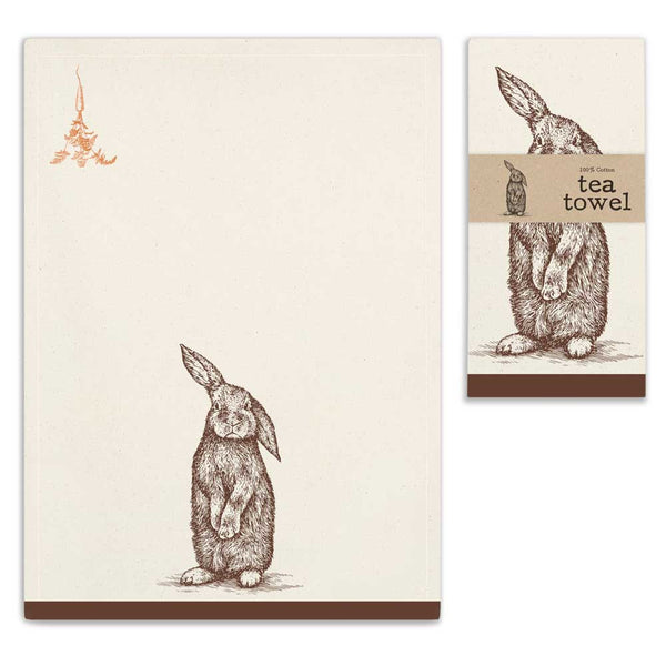 Bunny Tea Towels - Set of 4 - Urbanily Lifestyle Goods