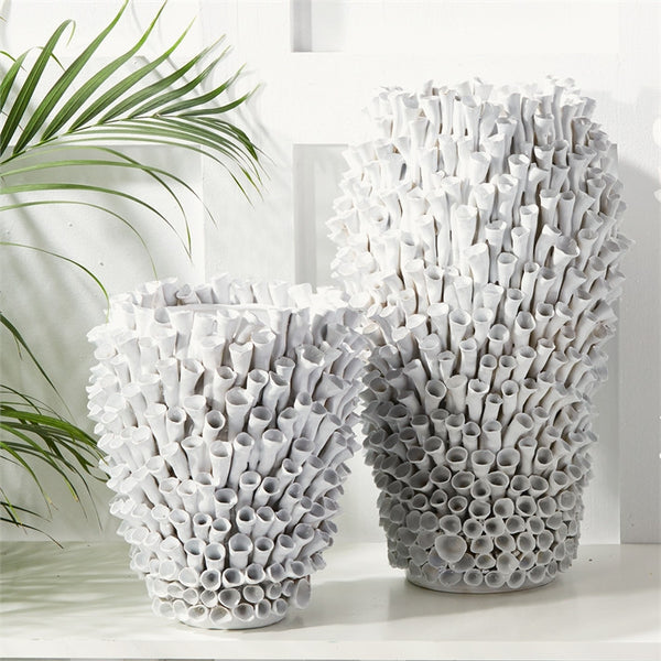 Coral Ceramic Vases - Set of 2 - Urbanily Lifestyle Goods