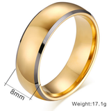 Gold Plated Tungsten Ring 8mm - primejewelry