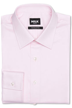 Ziraffe 100s Light Pink Twill Shirt