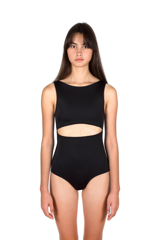 Medea Maillot Swimsuit - Obsidian
