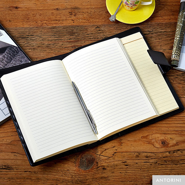 Multifunctional Leather A5 Journal/Diary and Note Pad in Satin