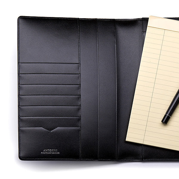 Leather A5 Padfolio in Satin with Note Pad