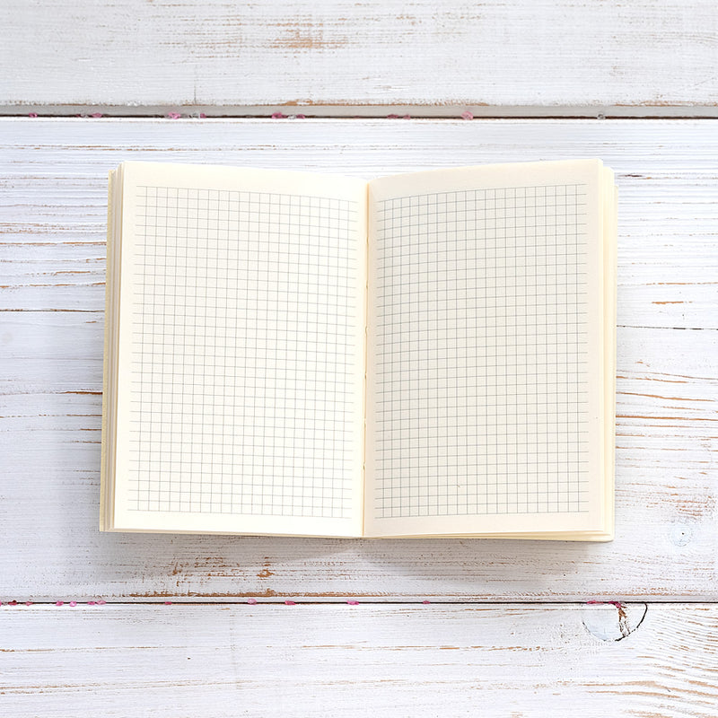 Slim Leather Pocket Diary in Gold and Nude