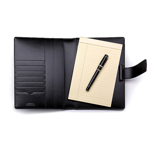 Leather A5 Padfolio in Terre with Note Pad
