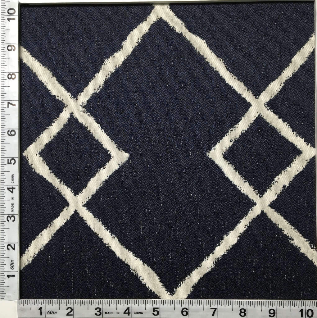 Chainstitch - Jacquard Upholstery Fabric - chainstitch-indigo / Yard - Revolution Upholstery Fabric