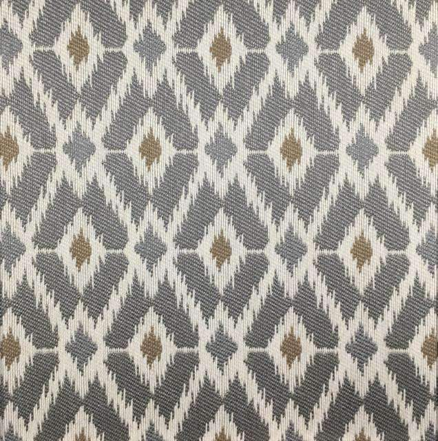Pony Express - Diamond Pattern Upholstery Fabric - pony-express-grey / Yard - Revolution Upholstery Fabric