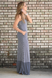 Aly Striped Maxi Dress
