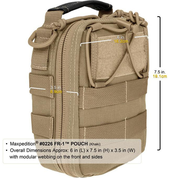 FR-1 Medical Pouch- Maxpedition, EMT, First Response, EDC, First-Aid Kit, Med Kit, Emergency Kit, Pouch, Maxpedition, Military, CCW, EDC, Tactical, Everyday Carry, Outdoors, Nature, Hiking, Camping, Police Officer, EMT, Firefighter, Bushcraft, Gear.