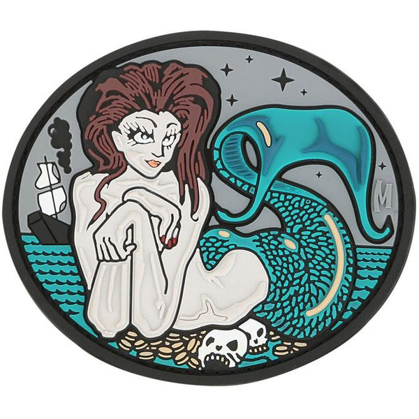 MERMAID PATCH - MAXPEDITION, Patches, Military, CCW, EDC, Tactical, Everyday Carry, Outdoors, Nature, Hiking, Camping, Bushcraft, Gear, Police Gear, Law Enforcement