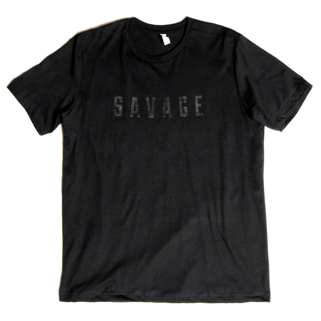 Orignal Savage Tee | Black on Black