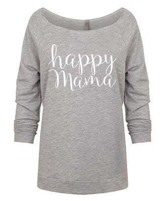 Heather Gray 3/4 Sleeve 'Happy Mama' Raglan - Us+Four