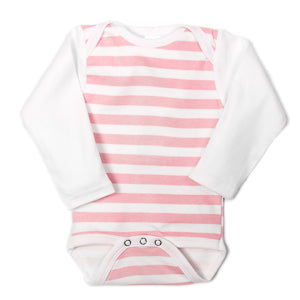 Pink Striped UnderBib Bodysuit - Us+Four