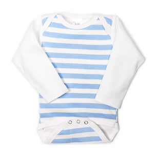Blue Striped UnderBib Bodysuit - Us+Four