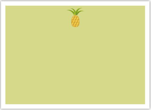 Pineapple Flat Notecard