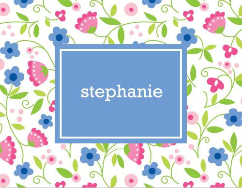 Spring Periwinkle Foldover Note