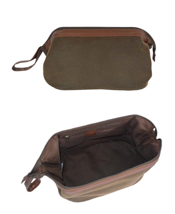 Classic Faux Suede (Vegan) Shaving / Dopp Kit