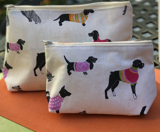 Dog Parade Cosmetic Bags
