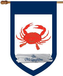 Monogrammed Red Crab House Flag