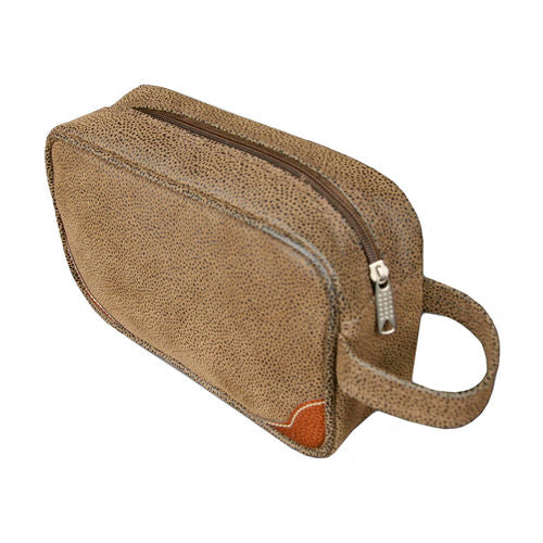 Classic Faux Suede (Vegan) Toiletry Kit