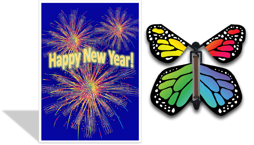 Magic Butterfly Cards - Happy New Year!