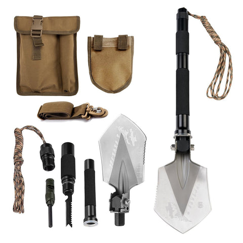 FiveJoy Military Folding Shovel Multitool - C1