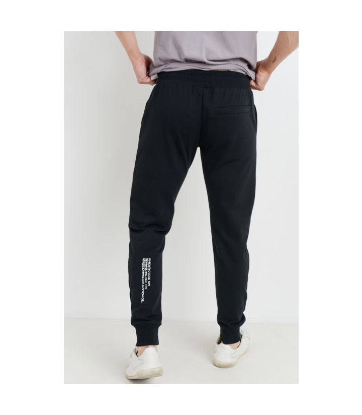 EST. Drawstring Terry Joggers Black