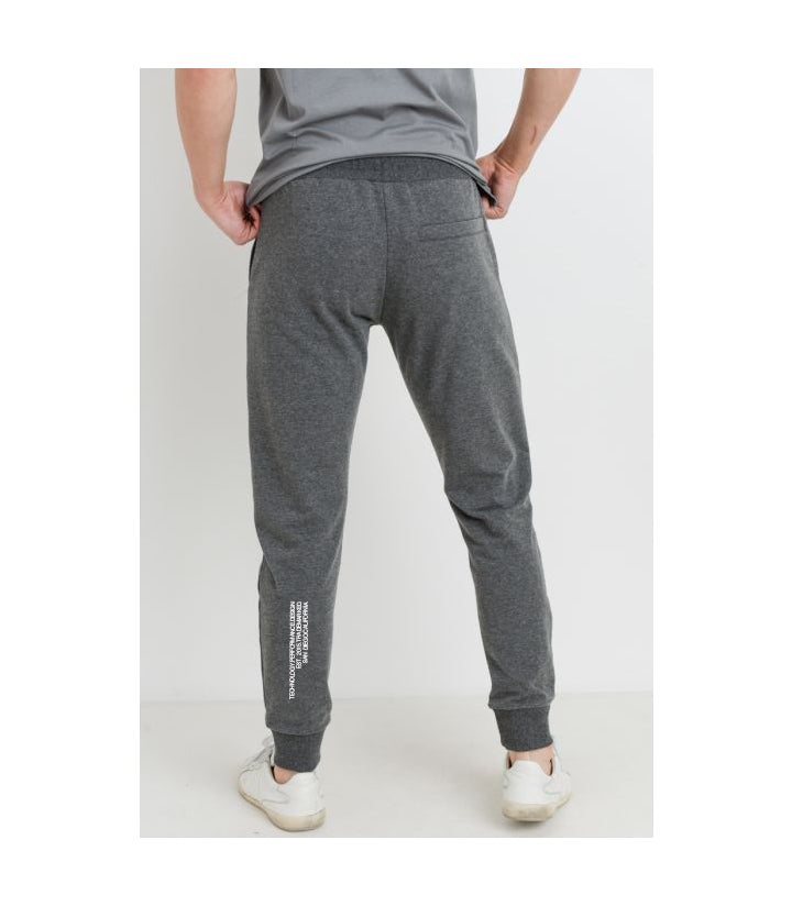 EST. Drawstring Terry Joggers Grey