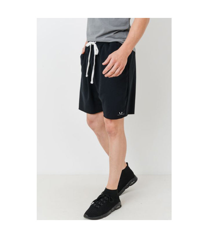 Drawstring Athleisure Shorts Black (PREORDER)