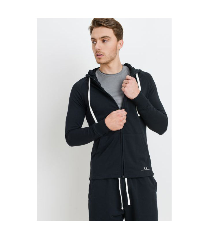 EST. Zip-Up Hoodie Black