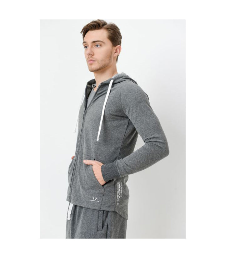 EST. Zip-Up Hoodie Grey