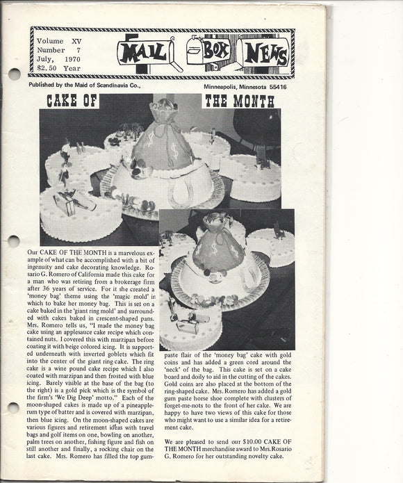 07 00 1970 Mail Box News Cake of the Month