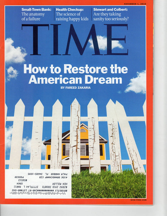 11 01 2010 Time American Dream