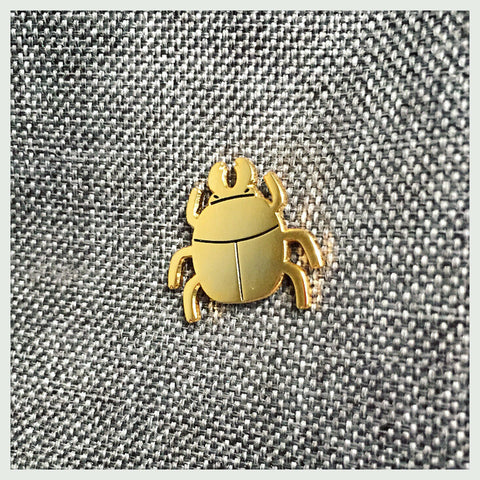 Golden Beetle Pin