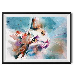 Print ~ The Look of Love cat design A4 - animated popular print