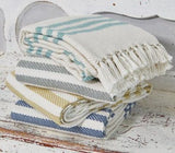 Scandi-chic style striped blankets 100% recycled, environmentally friendly, ethically produced, practical and gorgeous