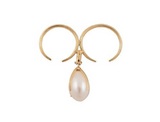 BEATRIZ PALACIOS Pearl Egg Double Ring
